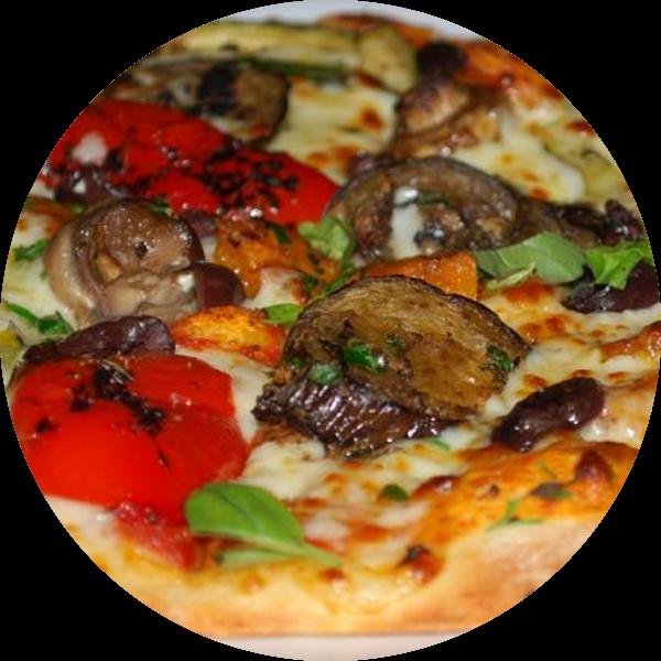 Roasted Vegetables pizza